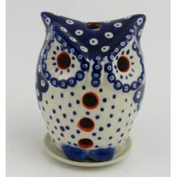 Sowa ceramiczna- lampion